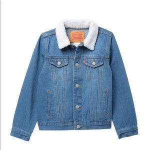 Levi's Sherpa Trucker Denim Jean Jacket Coat XL